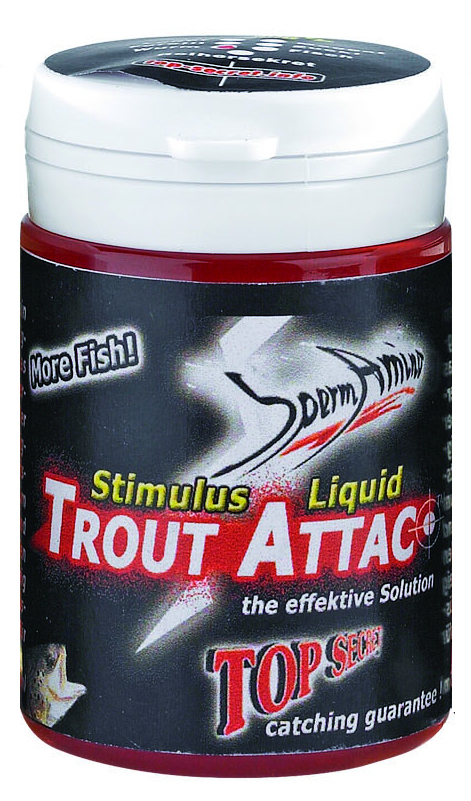Lockstoff-Dip Top Secret Stimulus Liquid Trout Attac - Wurm